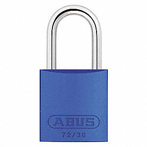 "Lockout Padlock,KA,Blue,2-17/32""H"