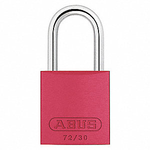 Red Lockout Padlock, Different Key Type, Aluminum Body Material