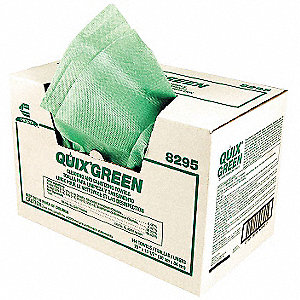 "Towel Disposable Wipes, 144 Ct. 13""x 21"" Sheets, Green"