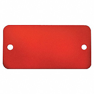 TAG RECT ANOD ALUM RED 2X 4IN 5PK