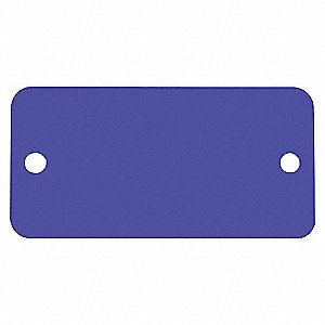 TAG RECT ANOD ALUM BLUE 1X 3IN 5PK