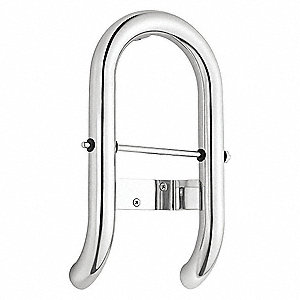 Toilet Roll Holder Stainless Steel Grab Bar, Silver