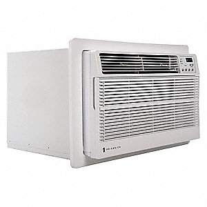 208/230V Electric Wall Air Conditioner w/Heat, 9800/10,000 BtuH Cooling, White, Includes: Remote Con