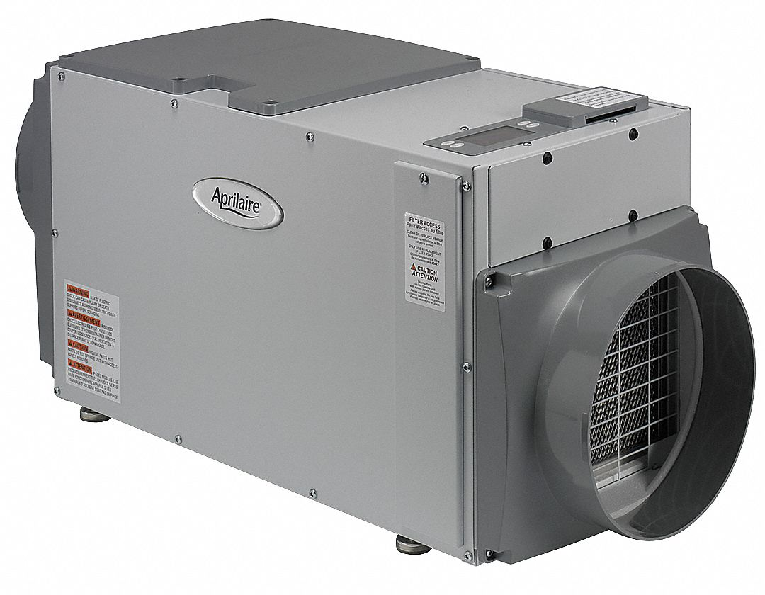 Ducted Whole House Dehumidifier, Voltage 115, 95 pt Capacity/24 Hrs. @ 60% RH, Width 14 1/2 in, Heig