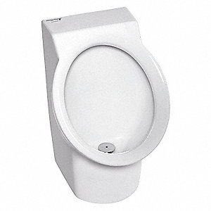 "Washout Wall Urinal, 0.1 Gallons per Flush, 21-1/2""H x 13-5/16""W, White"