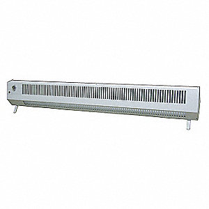 "48"" x 7-1/2"" x 5-1/4"" Convection Electric Space Heater, White, 120VAC"