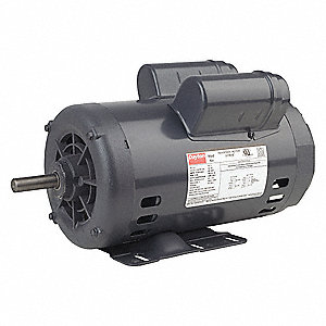 2 HP General Purpose Motor,Capacitor-Start/Run,1725 Nameplate RPM,Voltage 115/208-230,Frame 56H