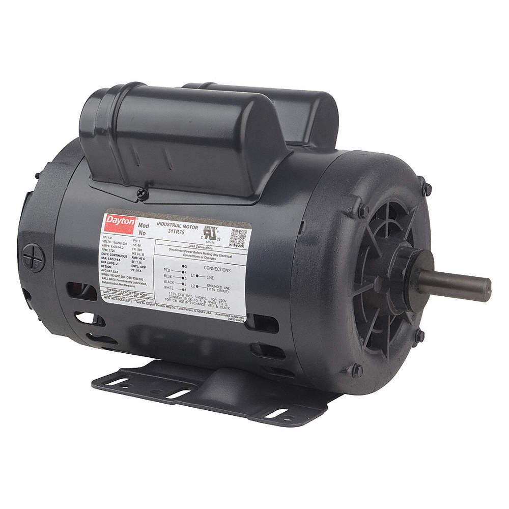 [DIAGRAM_38IS]  DAYTON 1 HP, General Purpose Motor, Capacitor-Start/Run, 1725 Nameplate  RPM, 115/208-230 Voltage - 31TR80|119162.00 - Grainger | 1 Hp Marathon Motor Wiring Diagram |  | Grainger