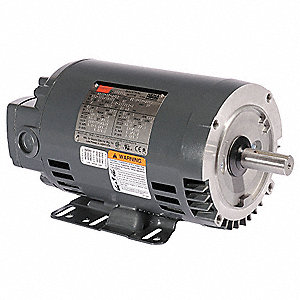 3 HP General Purpose Motor,3-Phase,1740 Nameplate RPM,Voltage 208-230/460,Frame 56HCZ