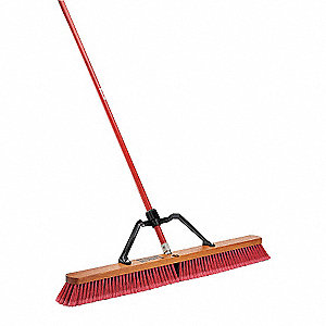 "Broom with Handle and Brace,36"" Block"