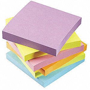 Sticky Notes,Multi-Color,100 Sheets,PK6