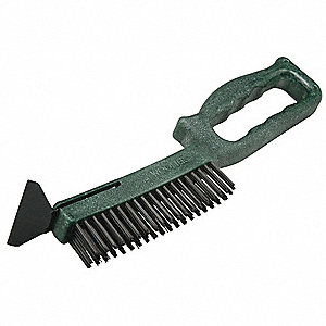 Long Neck Brush, Scraper, Green, Plastic