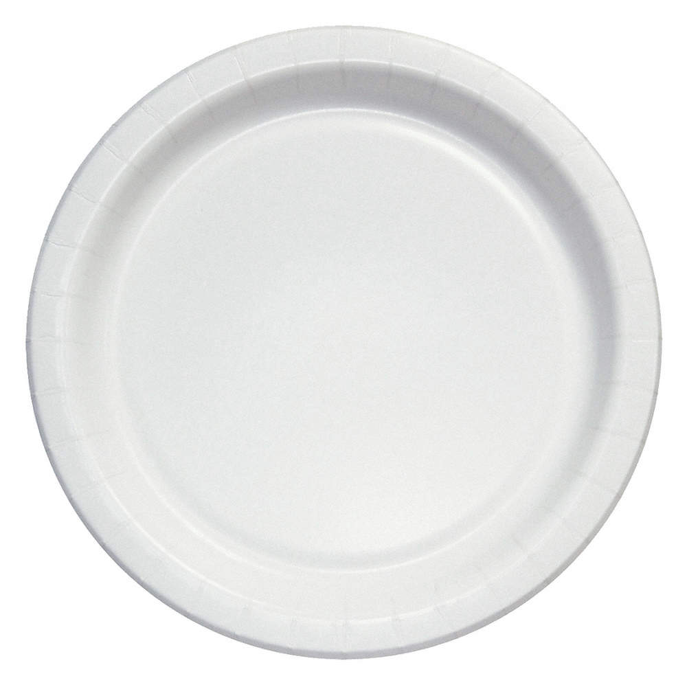 ability one 9 paper disposable plate white 1000 pk 31uf61 7350