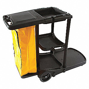 """Janitorial Crt,Blk,46-3/4x38-1/2x20-3/4"""""""