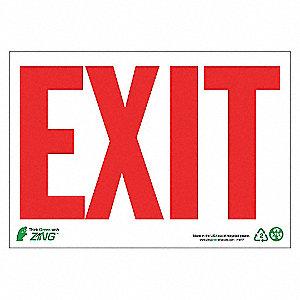 SIGN EXIT 7X10 AL