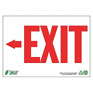 SIGN EXIT LEFT ARROW 7X10 AL