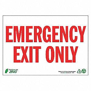 SIGN EMERGENCY EXIT 7X10 AL
