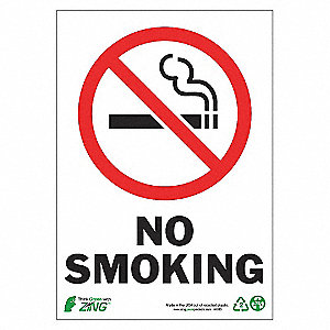 SIGN NO SMOKING 10X7 AL