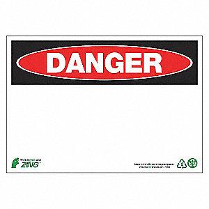 SIGN DANGER BLANK 7X10 AL
