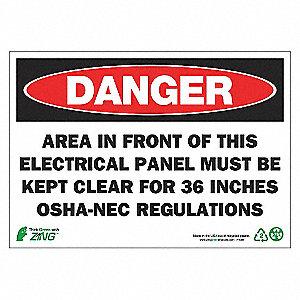 SIGN DANGER ELECTRI PANL 7X10 AL