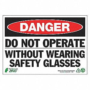 SIGN DANGER DO NOT OPERATE 7X10 AL
