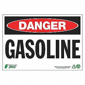 SIGN DANGER GASOLINE 7X10 AL