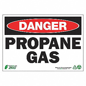 SIGN DANGER PROPANE 7X10 AL