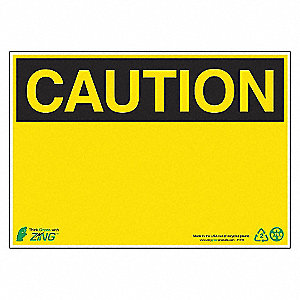 SIGN CAUTION BLANK 7X10 AL