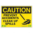 PANN CAUTION CLEAN SPILLS 7X10 AL