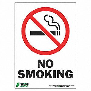 SIGN NO SMOKING 14HX10W AL