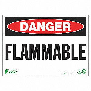 SIGN DANGER FLAMMABLE 10X14 AL