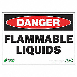 SIGN DANGER FLAMMAB LIQUID 10X14 AL