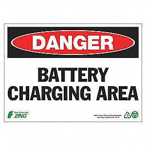SIGN DANGER CHARGING AREA 10X14 AL