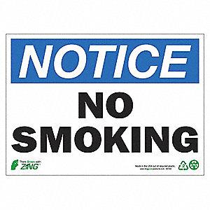 SIGN NOTICE NO SMOKING 10X14 AL