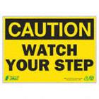 PANN CAUTION WATCH STEP 10X14 AL