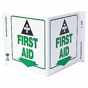 V SIGN FIRST AID 7X12 PL