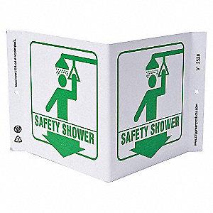 V SIGN SAFETY SHOWER 7X12 PL