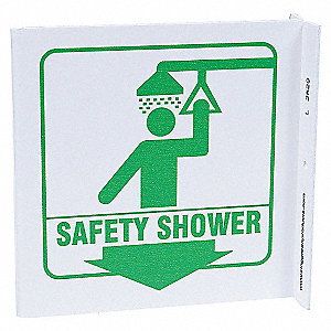 L SIGN SAFETY SHOWER 7X7 PL
