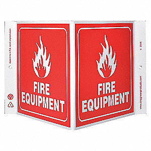 V SIGN FIRE EQUIPMENT 7X12 PL