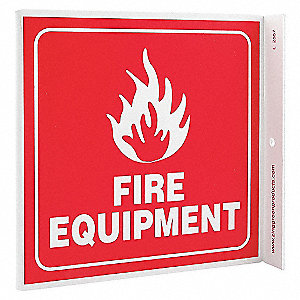 L SIGN FIRE EQUIPMENT 7X7 PL