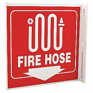 L SIGN FIRE HOSE 7X7 PL