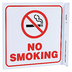 L SIGN NO SMOKING 7X7 PL