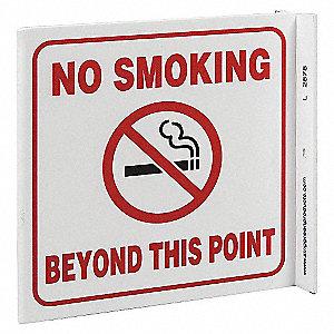 L SIGN NO SMOKING BEYOND 7X7 PL