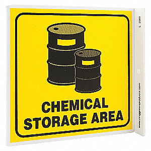 L SIGN CHEMICAL STORAGE AREA 7X7 PL