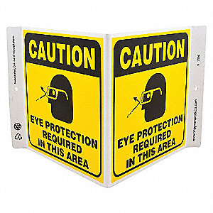 V SIGN EYE PROTECTION REQ 7X12 PL