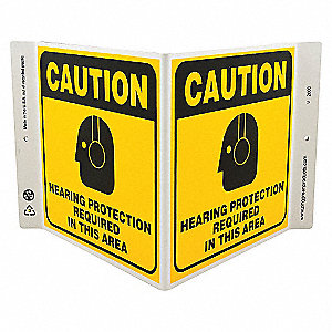 V SIGN HEARING PROTECTION 7X12 PL