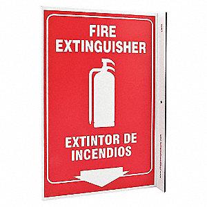 L SIGN FIRE EXTINGUISHER 11X8 PL