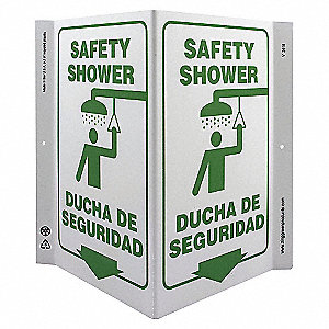 V SIGN SAFETY SHOWER 11X12 PL