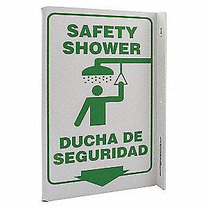 L SIGN SAFETY SHOWER 11X8 PL