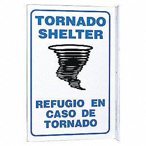 L SIGN TORNADO SHELTER 11X8 PL